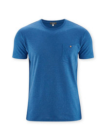 Living Crafts T-Shirt Cotton/Hemp Mix - blue