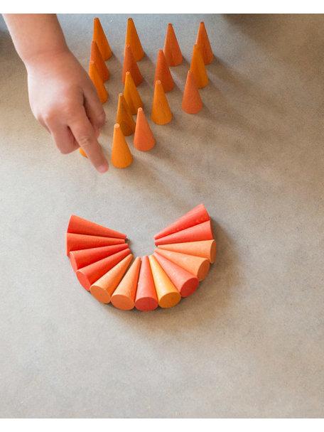 Grapat Mandala orange cones