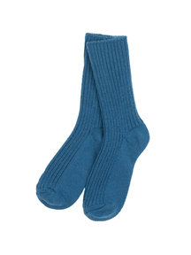 Joha Wool socks - Denim blue