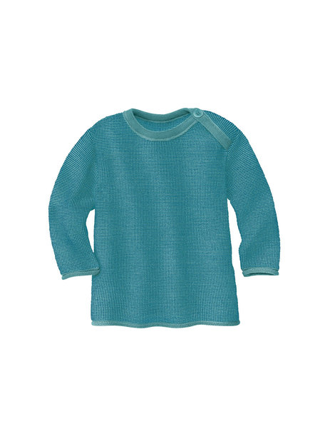 Disana Baby Sweater Organic Merino Wool - Lagoon/Blue