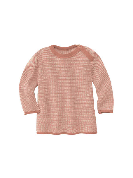 Disana Baby Sweater Organic Merino Wool - Rose/Natural