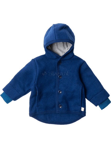 Disana Baby Jacket Organic Boiled Wool - Navy