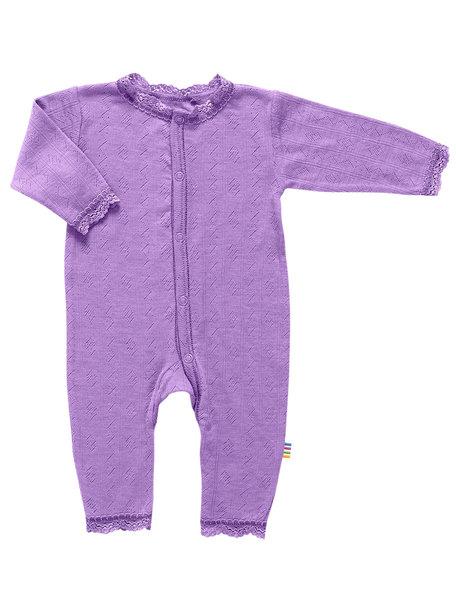 Joha Wool/silk Jumpsuit ajour - Lilac