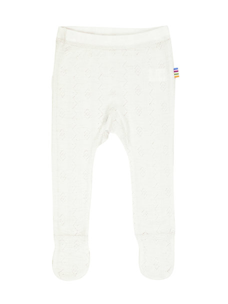 Joha Wool/silk baby legging ajour - White