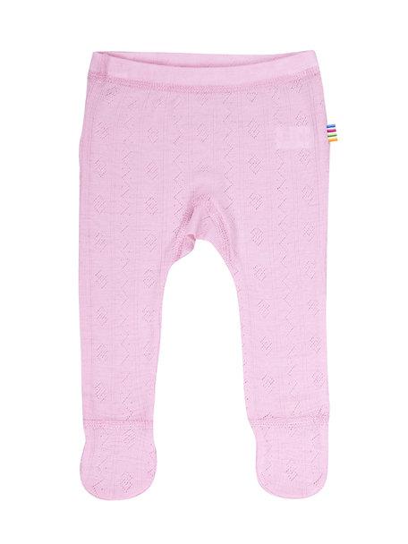 Joha Wool/silk baby legging ajour - Pink