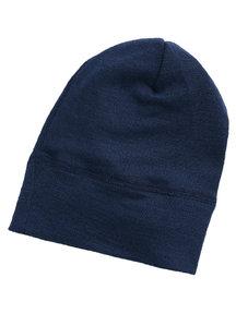 Engel Natur Beanie Wool/Silk - navy