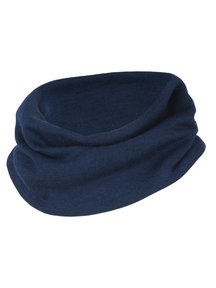 Engel Natur Fine Rib Loop Scarf Wool/Silk  - Navy