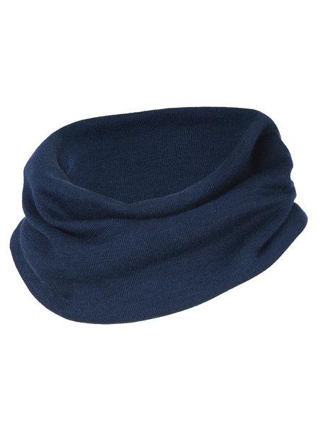 Engel Natur Fine Rib Loop Scarf Wool/Silk  - Navy