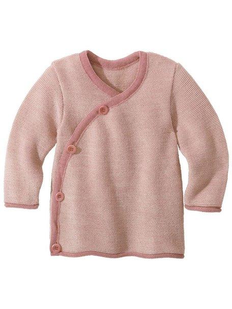 Disana Baby Cardigan Organic Merino Wool - Pink