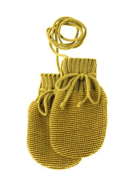 Disana Baby Mittens Organic Merino Wool - Curry Gold