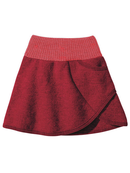 Disana Skirt Boiled Wool - Bordeaux