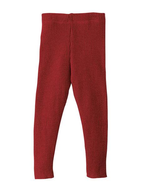 Disana Leggings Organic Wool - Bordeaux