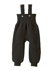 Disana Knitted Dungarees Organic Wool - Anthracite