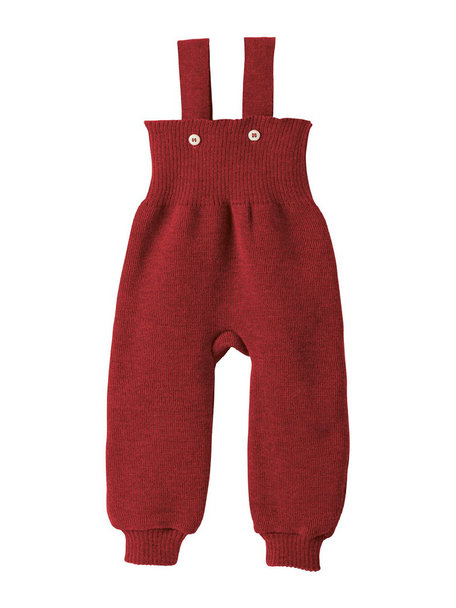 Disana Knitted Dungarees Organic Wool - Bordeaux