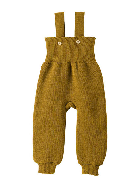 Disana Knitted Dungarees Organic Wool - Gold