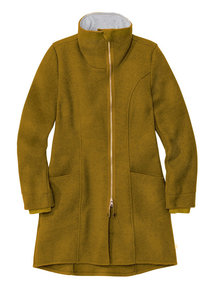 Disana Ladies Coat Boiled Wool - Gold