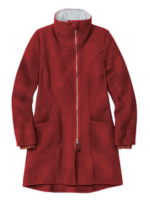 Disana Ladies Coat Boiled Wool - Bordeaux