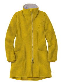 Disana Ladies Coat Boiled Wool - Curry