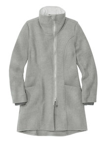 Disana Ladies Coat Boiled Wool - Grey