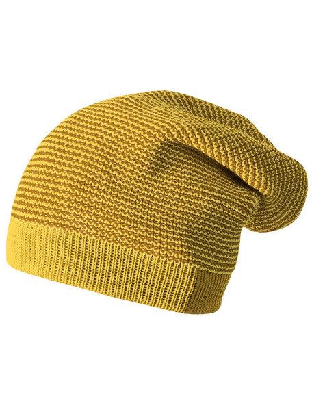 Disana Beanie Long Organic Wool - Gold
