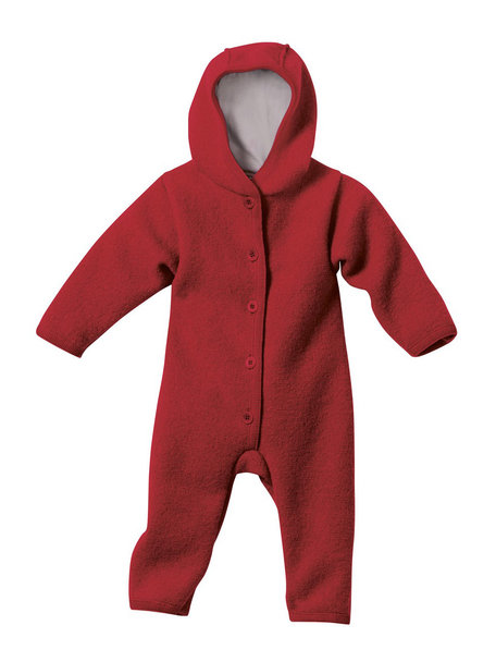 Disana Baby Overall Boiled Wool - Bordeaux