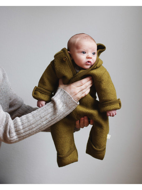 Disana Baby Overall Boiled Wool - Gold