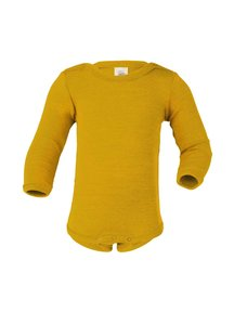 Engel Natur Body Long Sleeves Wool/Silk - Saffron