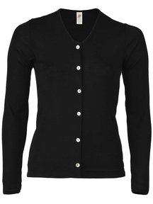 Engel Natur Cardigan Women Wool/Silk - Black