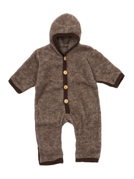 Cosilana Baby Overall Wool Fleece - Brown