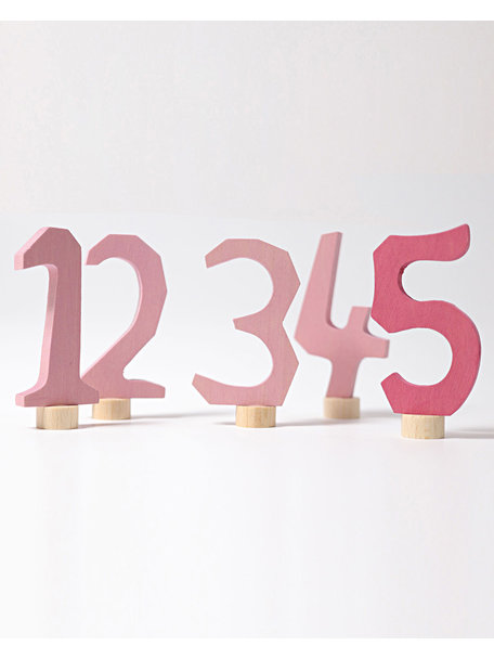 Grimm's Decorative Figure Set - Numbers 1-5 Pink