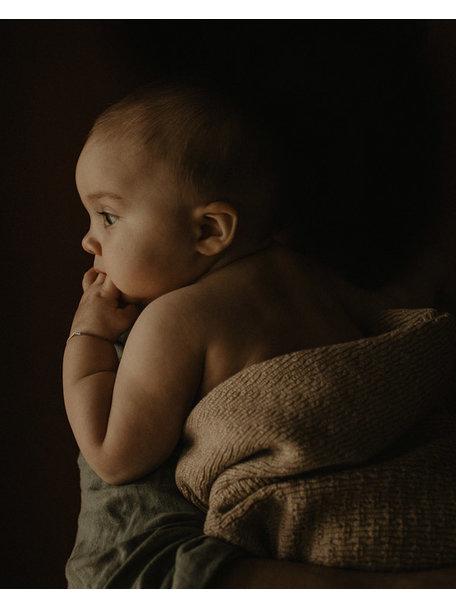 Hvid Merino Wool Baby Blanket Dora - Sarnd