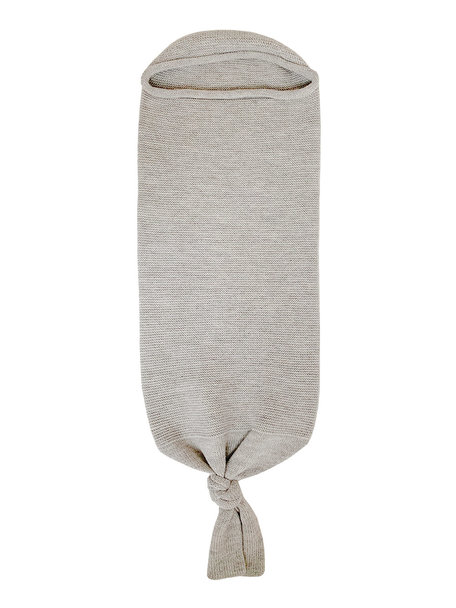 Hvid Baby Cocoon Merino Wool  - grey melange