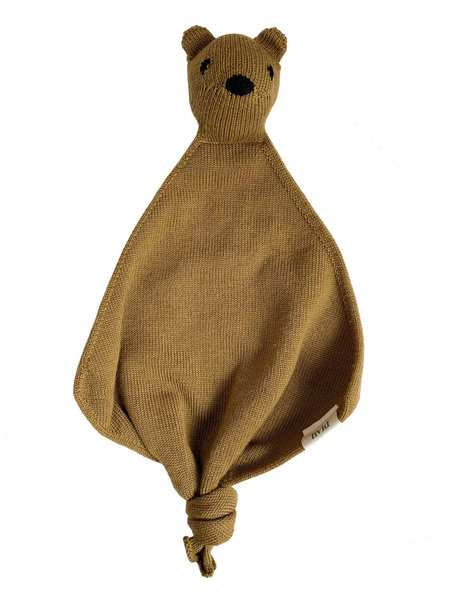 Hvid Teddy Tokki Cuddle Cloth - Mustard