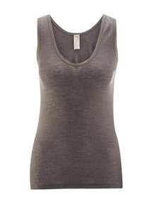 Living Crafts Sleeveless top women of wool / silk - grey