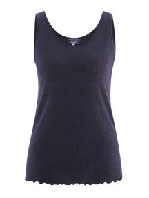 Living Crafts Sleeveless top women of wool / tencel