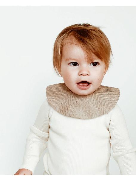 Hvid Merino Wool Collar - Sand