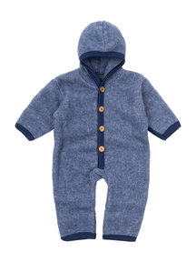 Cosilana Wool Fleece Overall - blue