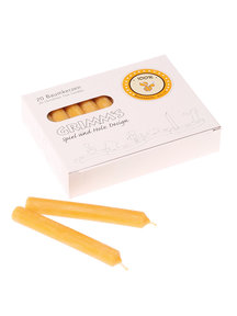 Grimm's Amber Beeswax Candles (100%)