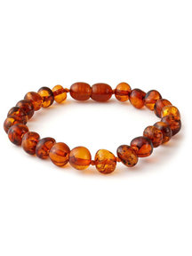 Amber Amber Ladies bracelet 19cm - cognac