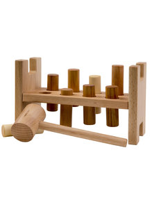 Wooden Story Pound-a-peg - natural
