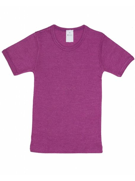 Hocosa Kids T-Shirt Wool/Silk - Pink