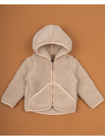 Alwero Jacket teddy plush - beige