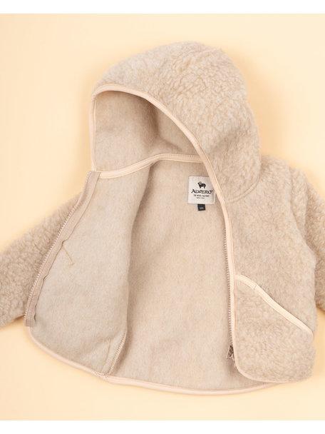 Alwero Jacket teddy plush - beige