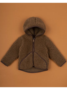 Alwero Jacket teddy plush - brown