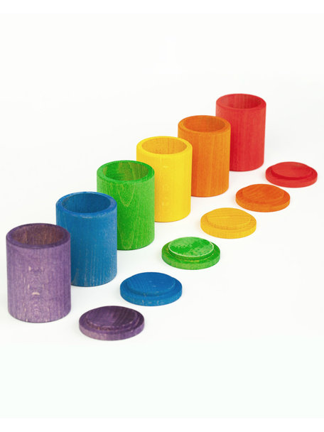 Grapat Cups with cover - rainbow