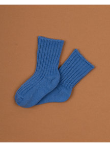Joha Wool children's socks - jeans blue