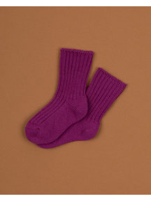 Joha Wool children's socks - raspberry