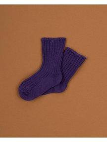 Joha Merino wool socks - Purple