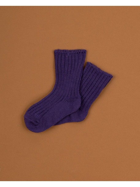 Joha Wool children's socks - purple