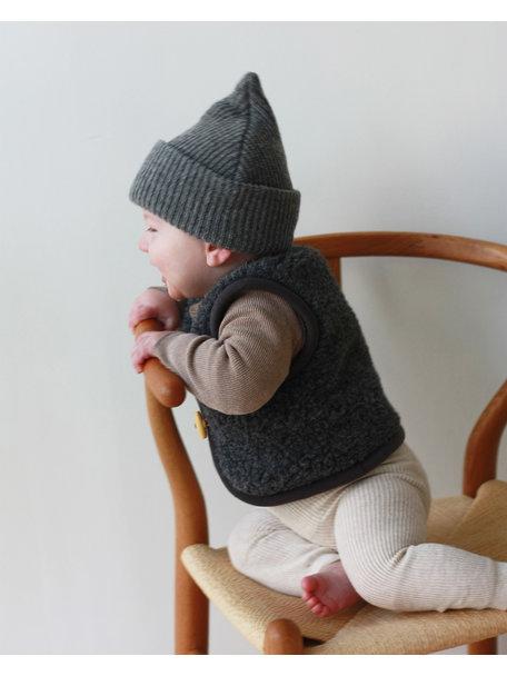 Alwero Alpen Vest Wool - coal